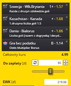 Bramki Fortuna kupon na 28.05.