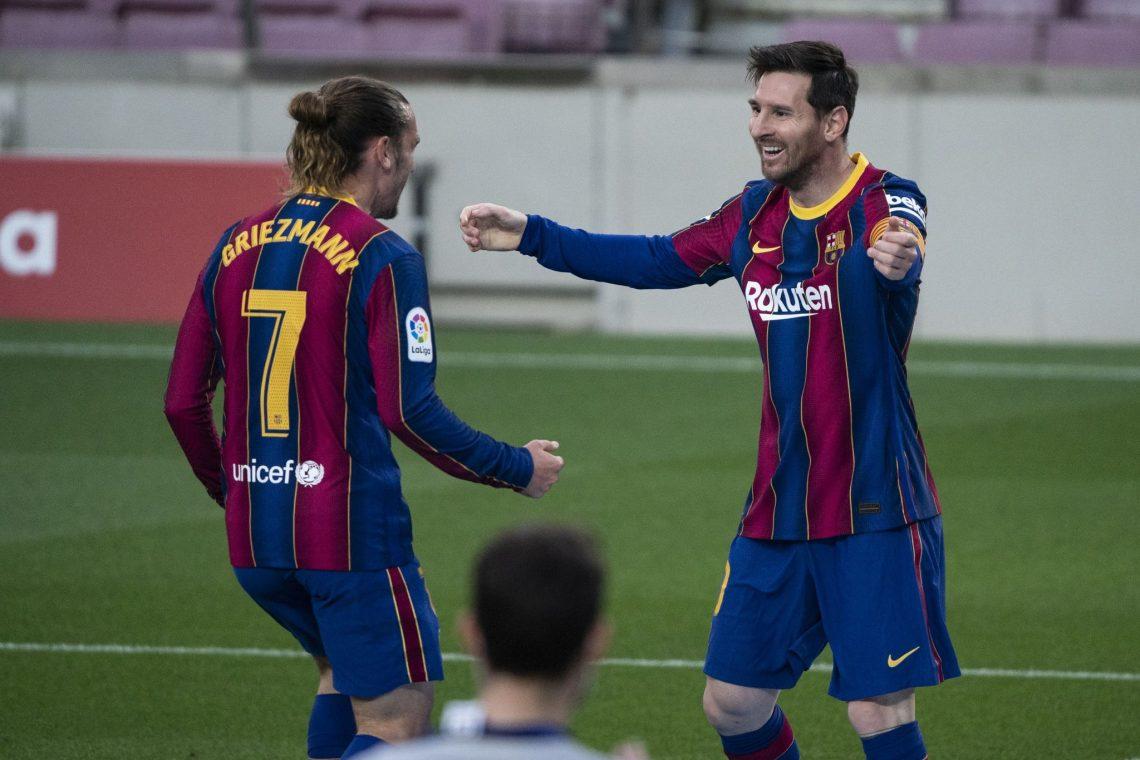 Antoine Griezmann oraz Lionel Messi