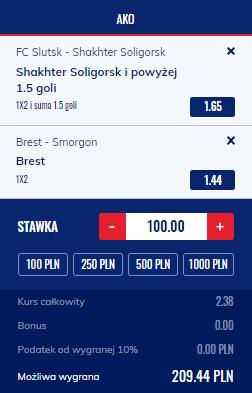 Białoruś Etoto na 18.06.