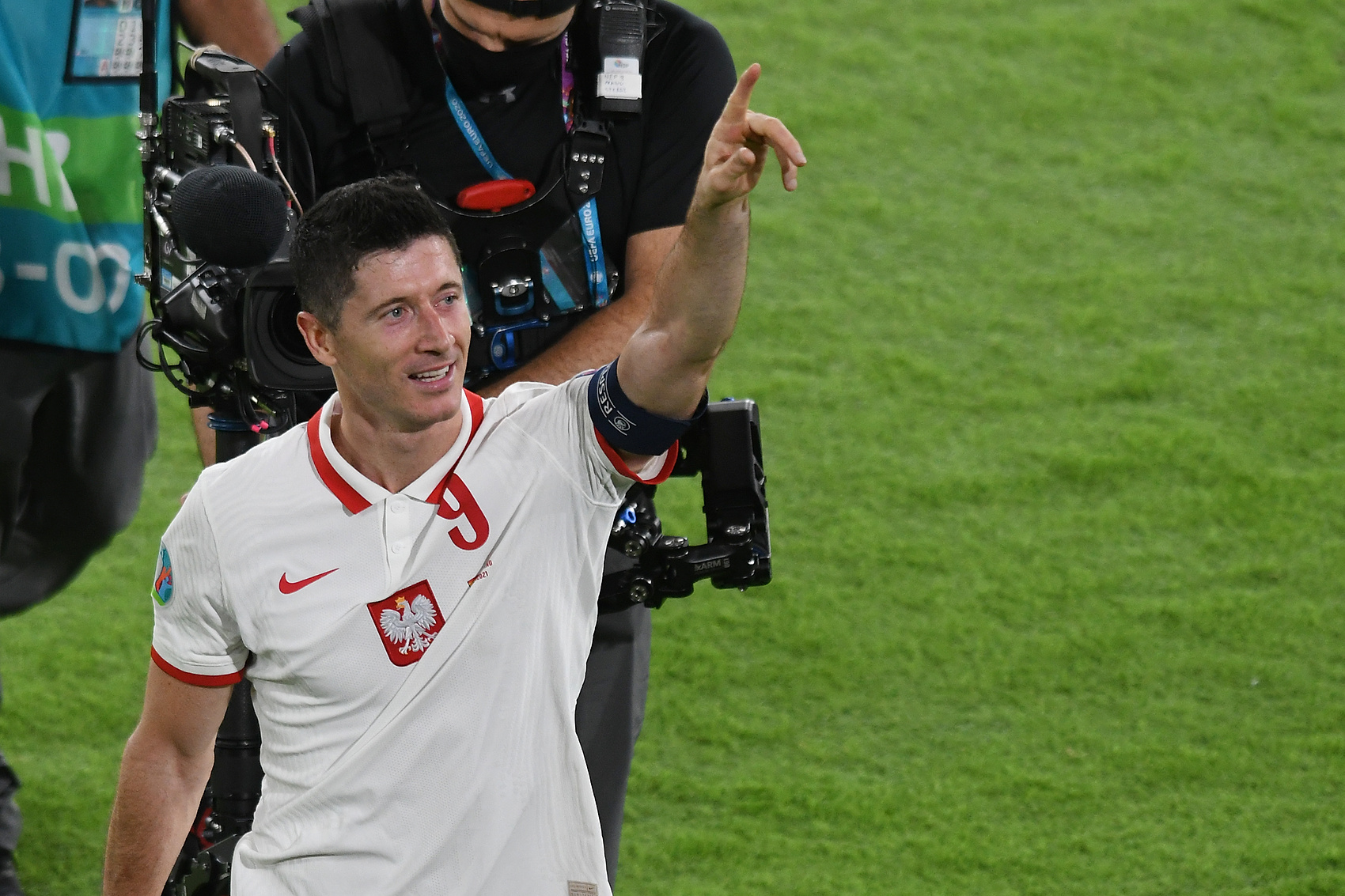 Lewandowski w meczu z Polską
