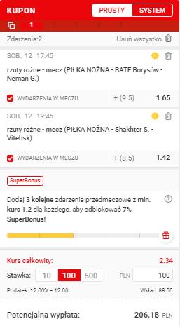 Białoruś Superbet 12.06.