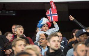 Kibice z Norwegii