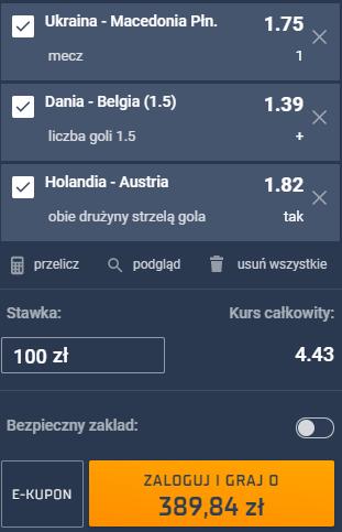 kupon triple euro 2020, 17.06.2021