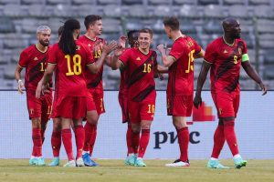 Reprezentacja Belgii po strzelonym golu - kupon 12.06.21r.
