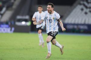 Leo Messi po strzelonym golu - kupon Copa America 18.06