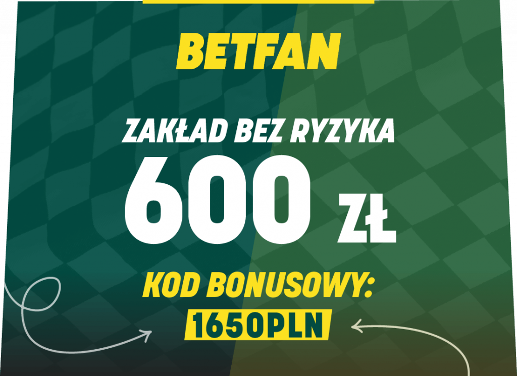 BETFAN kod promocyjny 1650PLN