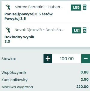 Dubel Hurkacz vs Berrettini