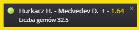 Hurkacz vs Medvedev gemy