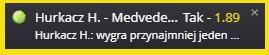 Hurkacz vs Medvedev set