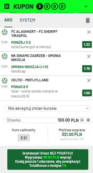 Totalbet kupon LM 20.07.