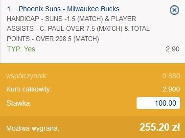 kupon NBA 17.07