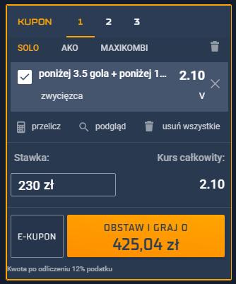 Kupon STS na 11.07. EURO