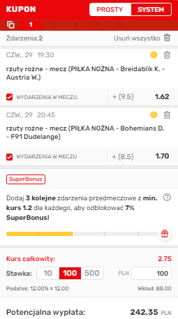 Liga Konferencji Superbet na 29.07.