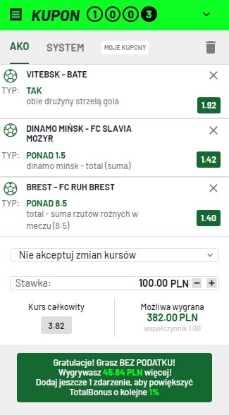 Białoruś 04.07. Totalbet