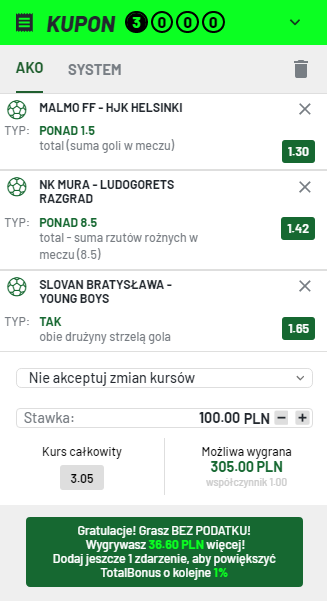 LM TOTALBET na 21.07.