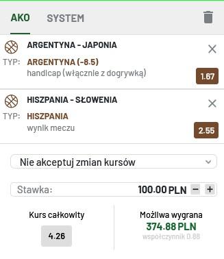 kupon koszykówka IO 31.07.21