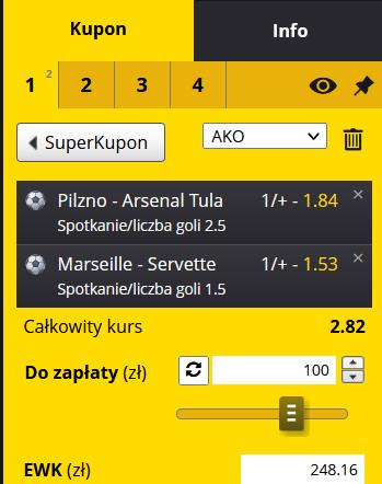 kupon fortuna - mecze towarzyskie 15.07.