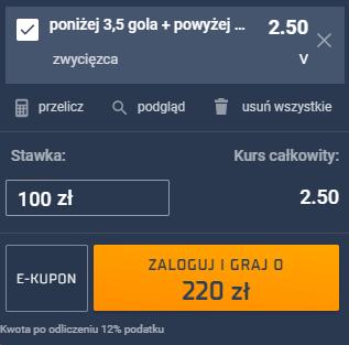 kupon single na półfinał euro 2020, 07.07.2021