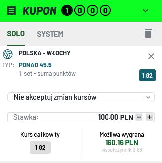 totalbet kupon polska wlochy