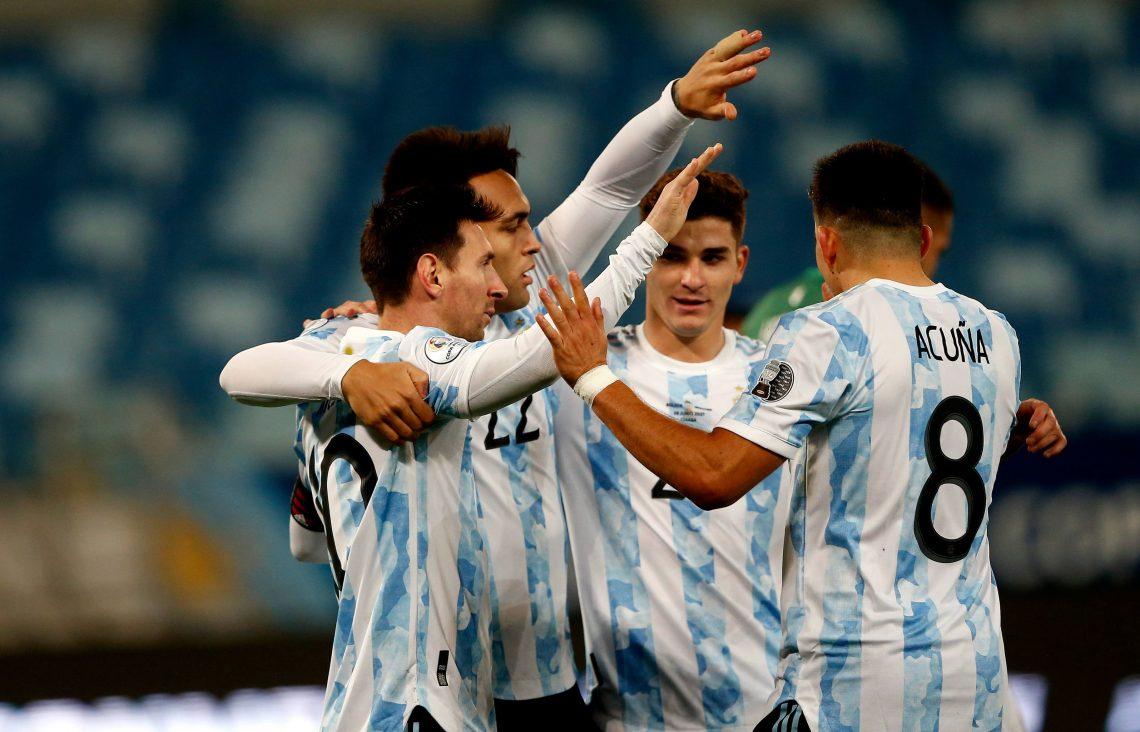 reprezentacja Argentyny po strzelonym golu - kupon Copa America 04.07.