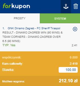 Dinamo Forbet na 25.08. LM