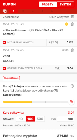 Rosja Superbet 26.08.