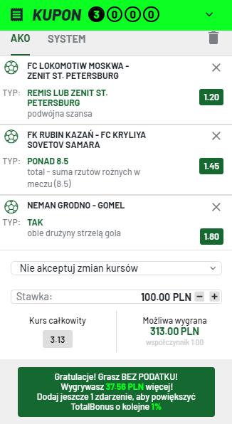 Białoruś i Rosja Totalbet 14.08.
