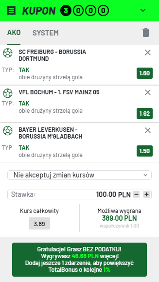Bundesliga TOTALBET 21.08.