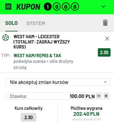 kupon PL 23.08 Totalbet