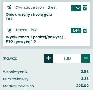 kupon double ligue 1, 07.08.2021