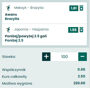 kupon double na IO piłka, 03.08.2021
