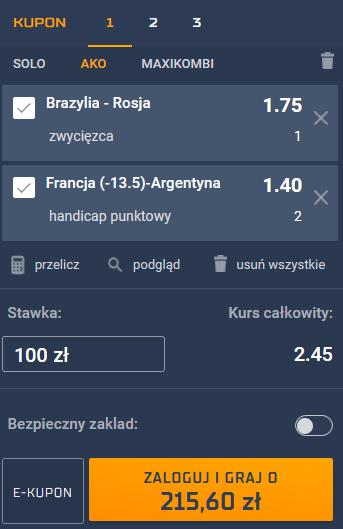 kupon siatkowka 05.08.2021