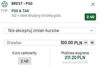 kupon single ligue 1, 20.08.2021