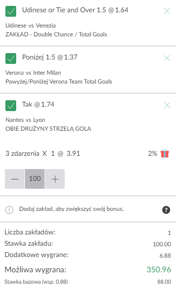 kupon triple serie a-ligue 1, 27.08.2021