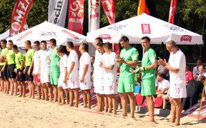 drużyna piłki nożnej plażowej