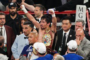 Manny Pacquiao po wygranej walce - kupon boks 21.08.