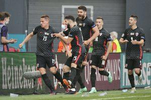 Chorwacja, radość po golu 04.09.2021