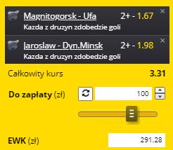 KHL bramki Fortuna na 07.09.