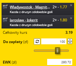 20.09. kupon numer 1 KHL Fortuna