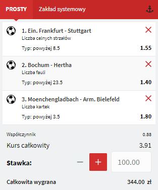 Fuksiarz Bundesliga na 12.09.