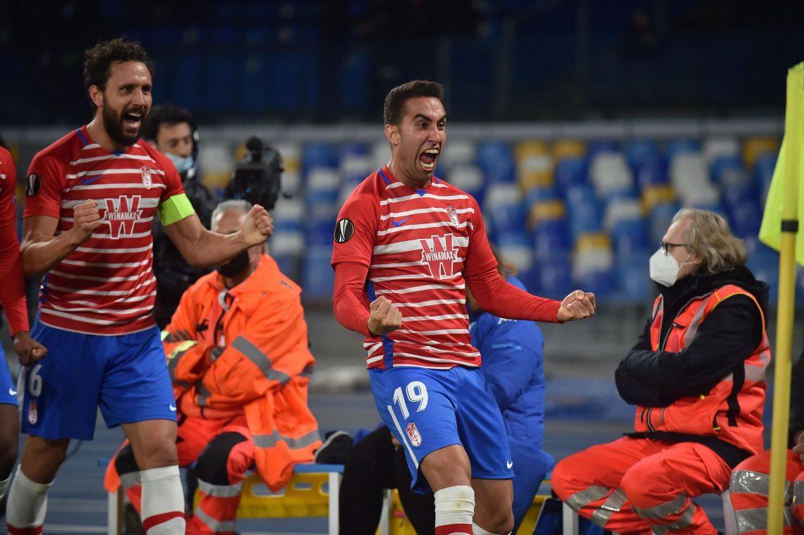 Granada CF, radość po golu 13.09.21