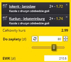 Bramki KHL Fortuna 14.09.
