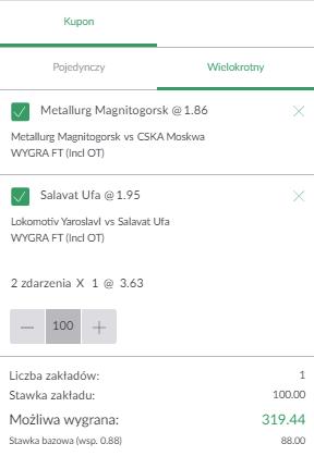 Zwycięstwa PZBuk KHL na 25.09.
