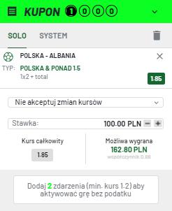 Polska - Albania typy bukmacherskie