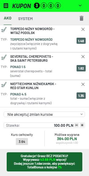 KHL na 02.09. Totalbet