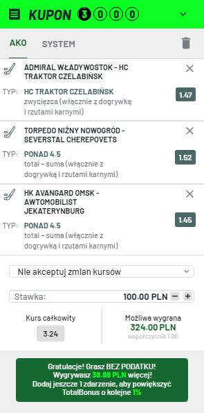 KHL TOTALBET na 11.10.