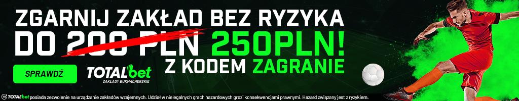 baner totalbet bez ryzyka 250 pln