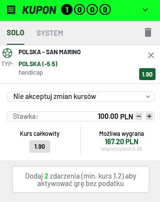 polska san marino kupon totalbet
