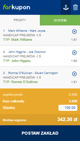 typy snooker northern ireland open 10.10